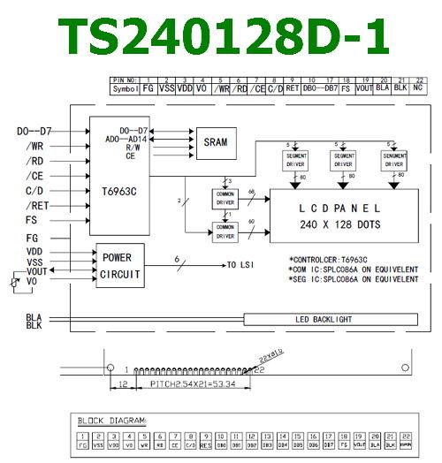 TS240128D-1 datasheet pinout